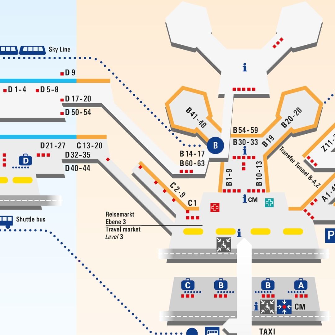 Frankfurt Airport Map Frankfurt Airport   Terminal Maps Frankfurt Airport Map